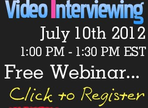 Recruiting Webinar on Video Interviewing
